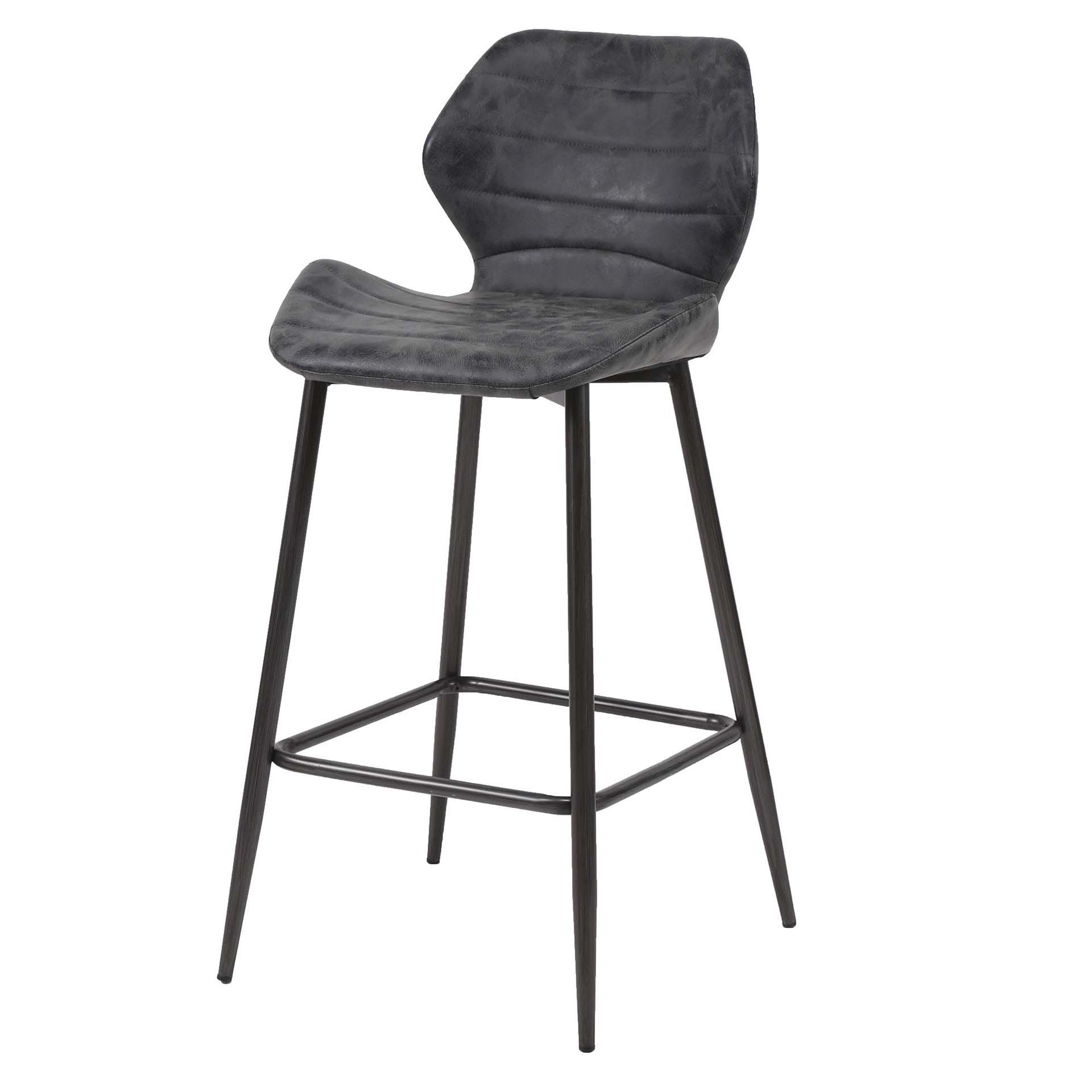 revendeur 84069 eb7ea Chaise de bar gris foncé JAVA