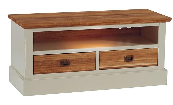 meuble tv blanc bois massif petit mod le brieuc meubles tv pier import