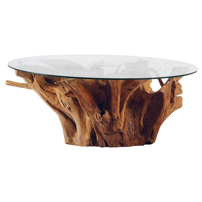 Et Basse Table Ronde Teck Verre 120x50 Nature Arizona SMzpjqVGLU