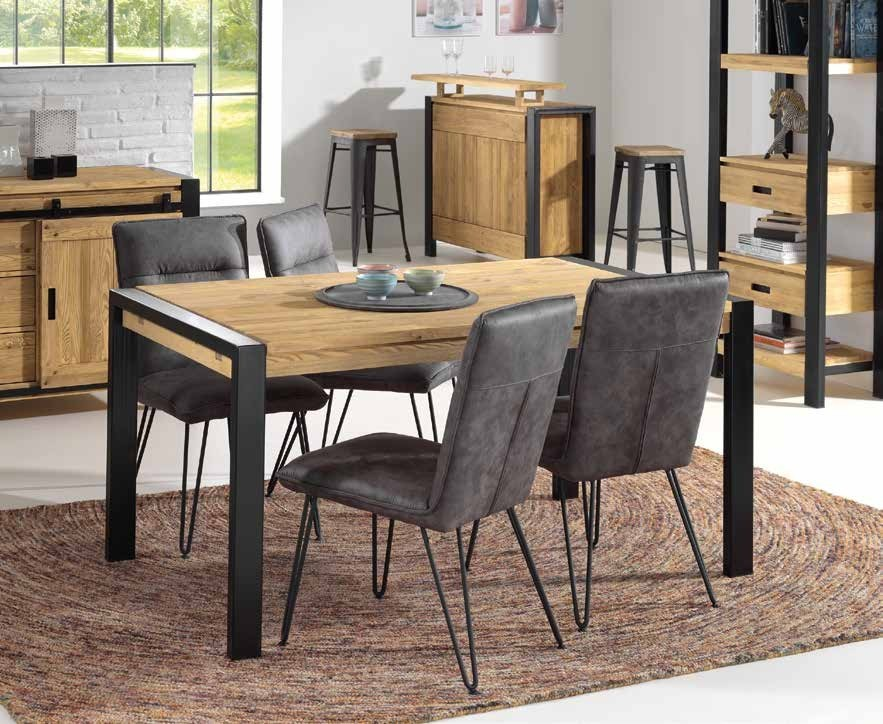 Table basse rectangulaire bois de pin massif LOUNDGE
