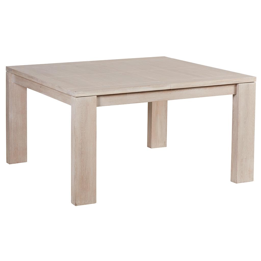 Table En Bois Chene Clair table de repas extensible chêne massif ciré blanchi 140x140x77cm manille
