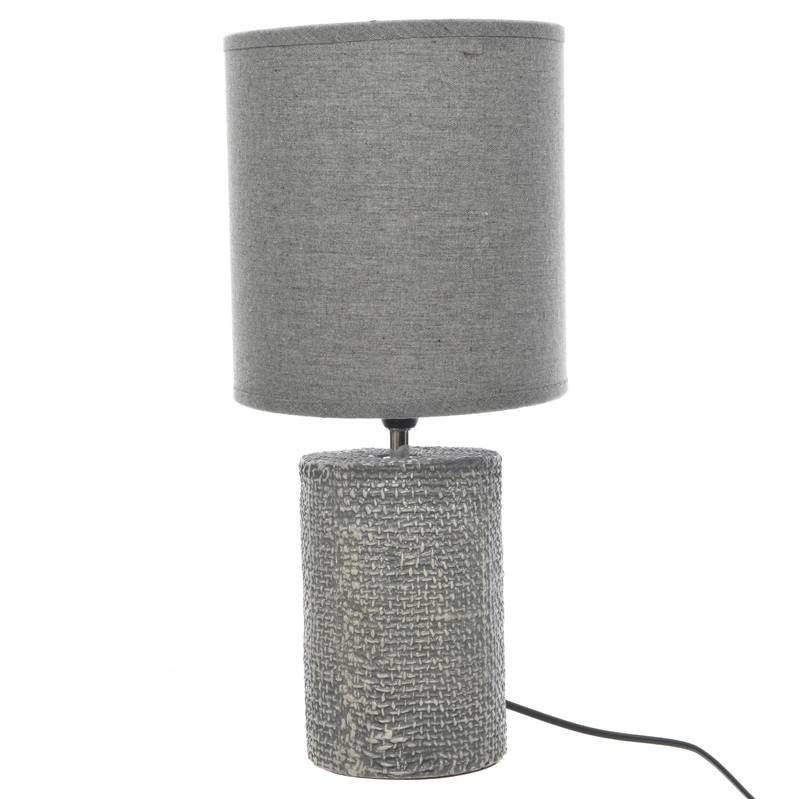 Céramique En En D20xh55cm Lampe Céramique Céramique D20xh55cm En Grise Lampe Grise Lampe Grise 80PNXZwknO