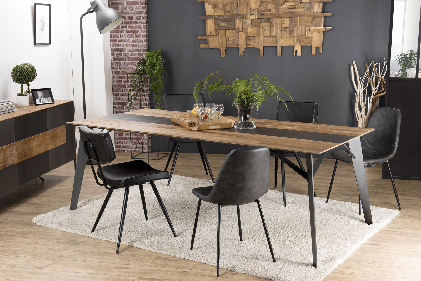 table industrielle a manger