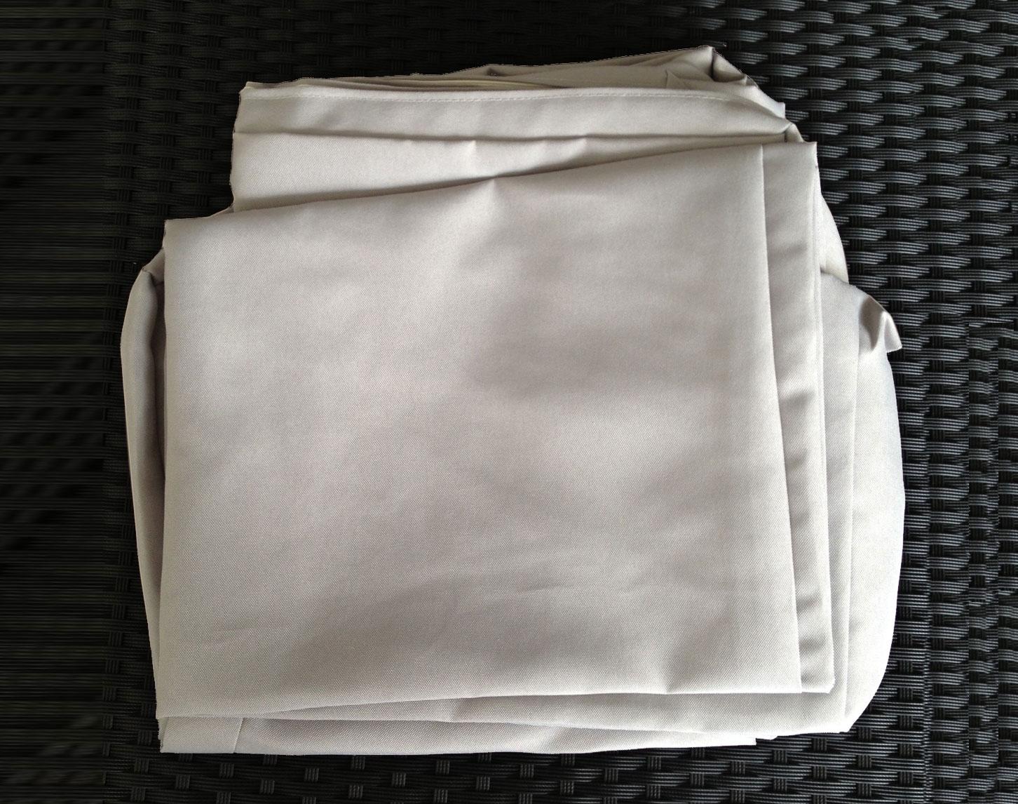 Jeu de Housses tissu gris pour Salon de Jardin PUERTO RICO