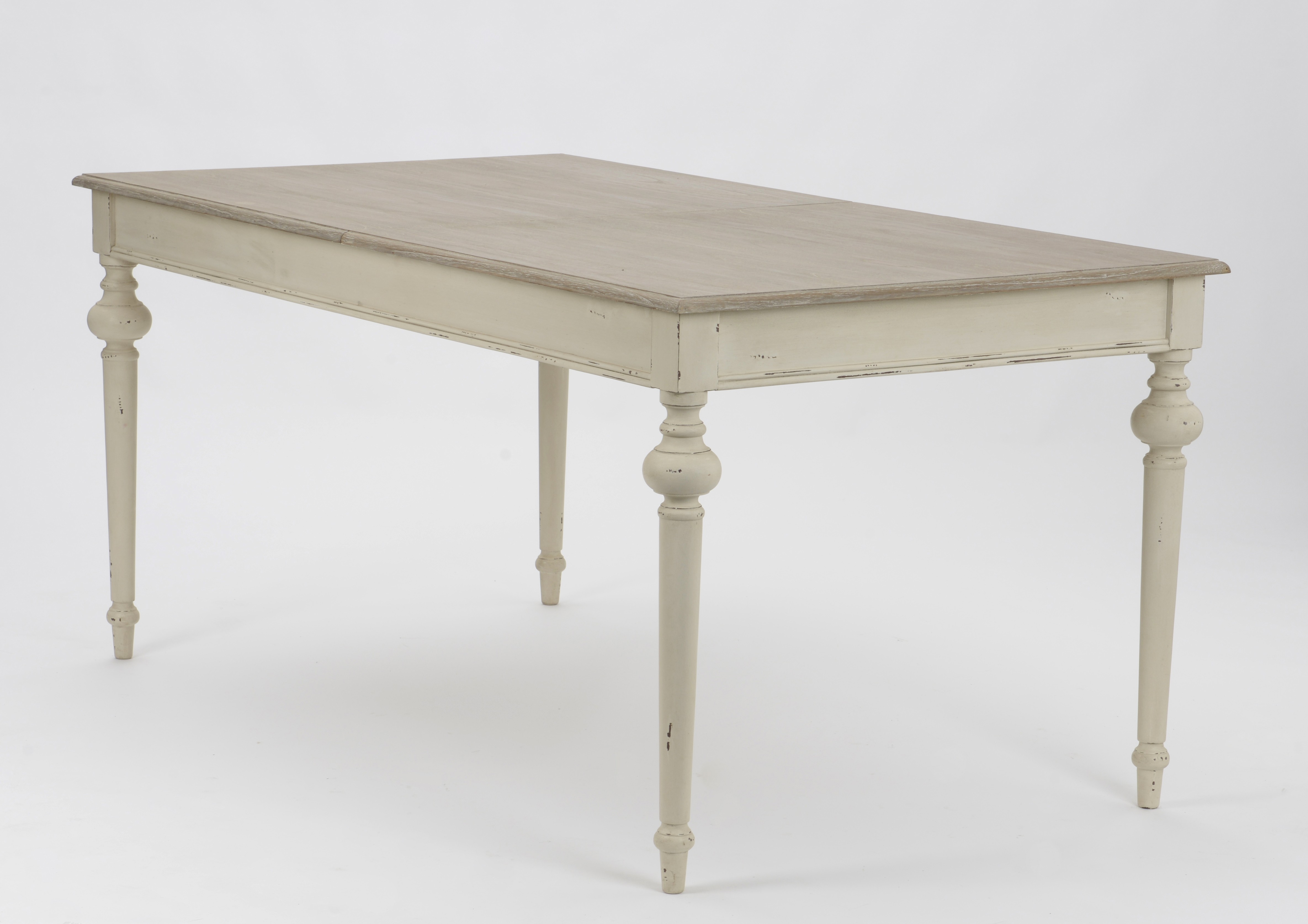 Table de repas Louis Philippe extensible bois vieilli LEGENDE  L160/200xP90xH76 AMADEUS