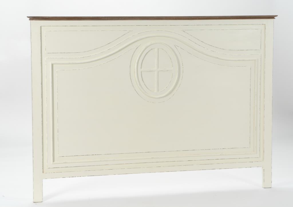 Tete De Lit Ancienne 160 Cm Bois Blanc Vieilli Gustave L170 X H120 Amadeus