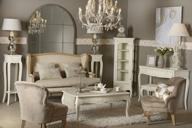 Tête de lit blanche 120 cm shabby romantique bois vieilli COMTESSE ...