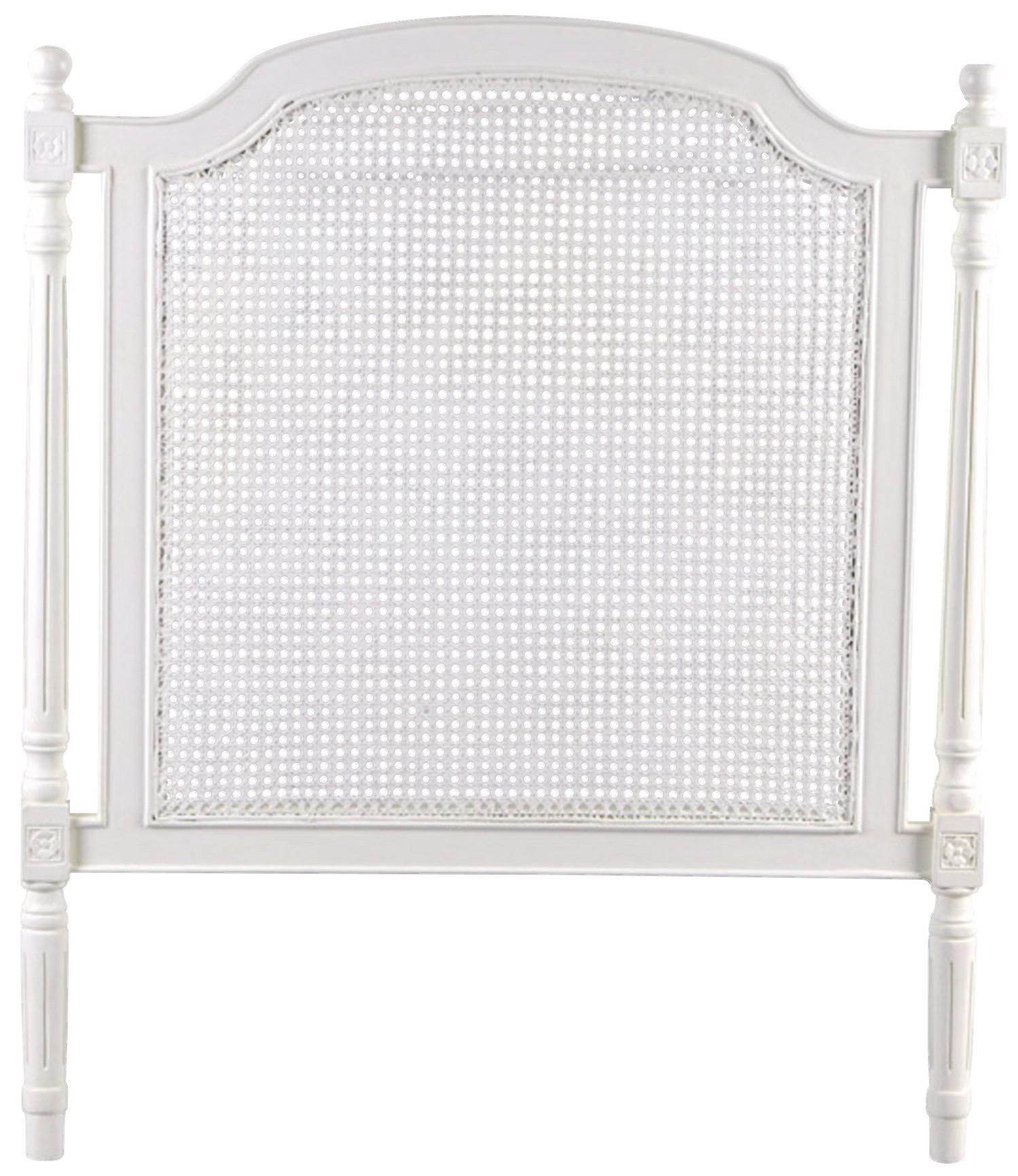 Tête de lit cannée 100cm en bois blanc classique chic HELENA L100 x ...