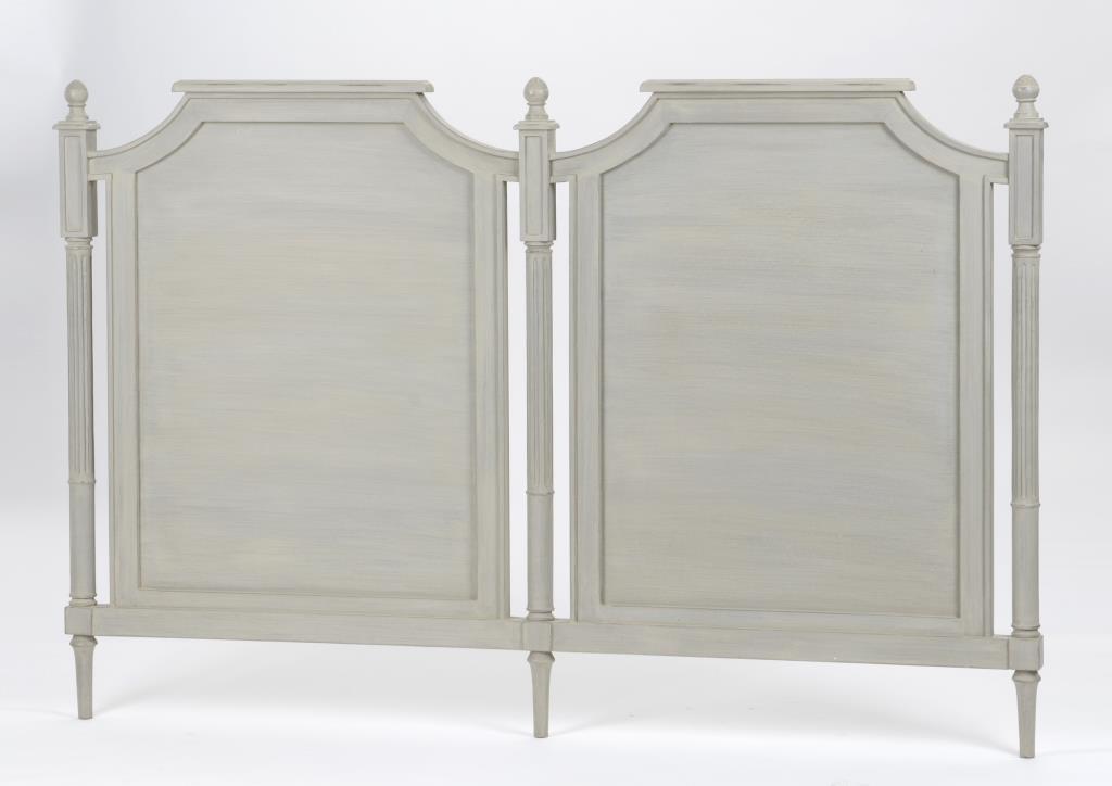 Tête de lit double en bois gris classique chic EDOUARD L172xH112 AMADEUS
