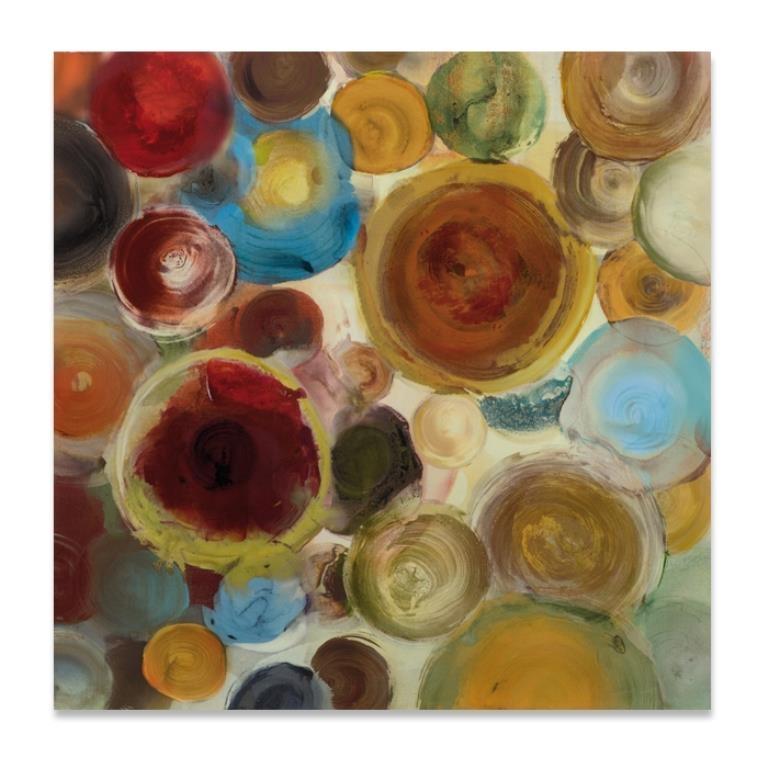 Carrée Rouge 100x100 Avec Acrylique Abstrait Et Peinture Marron 9WEHID2Y