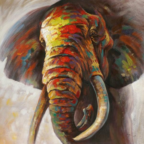 tableau peinture elephant