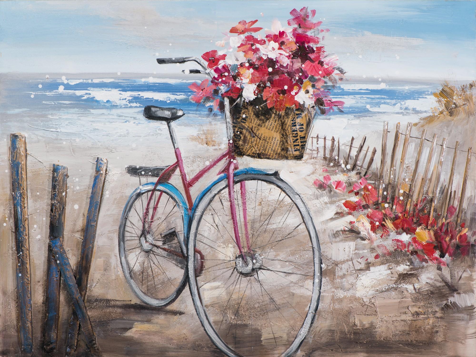 Tableau Vélo sur la plage 60x80 Peinture acrylique | Tableaux / Toiles | Pier Import