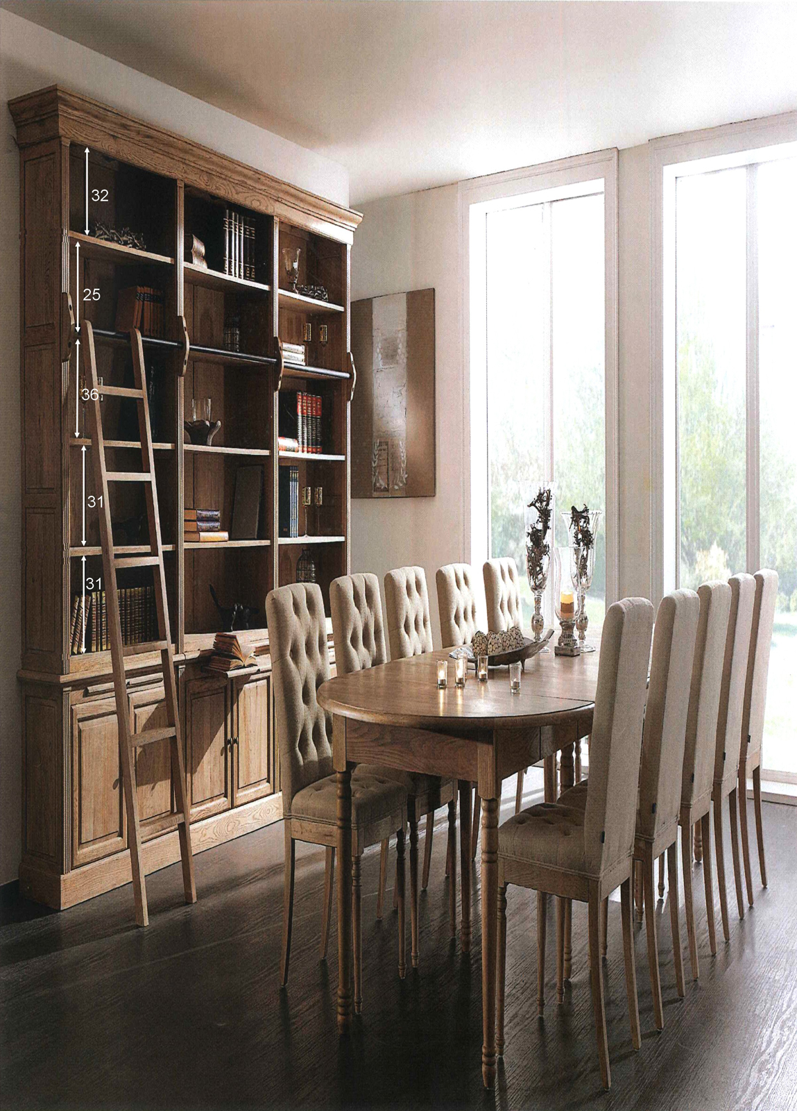 biblioth que avec chelle classique chic ch ne. Black Bedroom Furniture Sets. Home Design Ideas