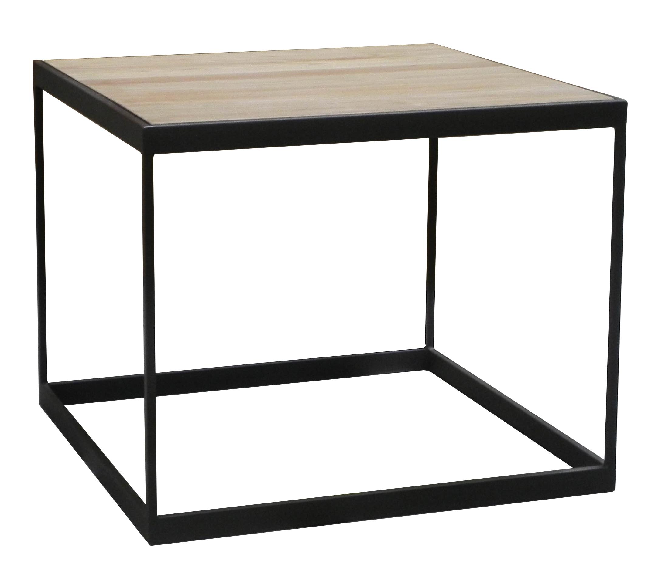 Table d 39 appoint bout de canap ch ne massif m tal soomaa Table d appoint bout de canape