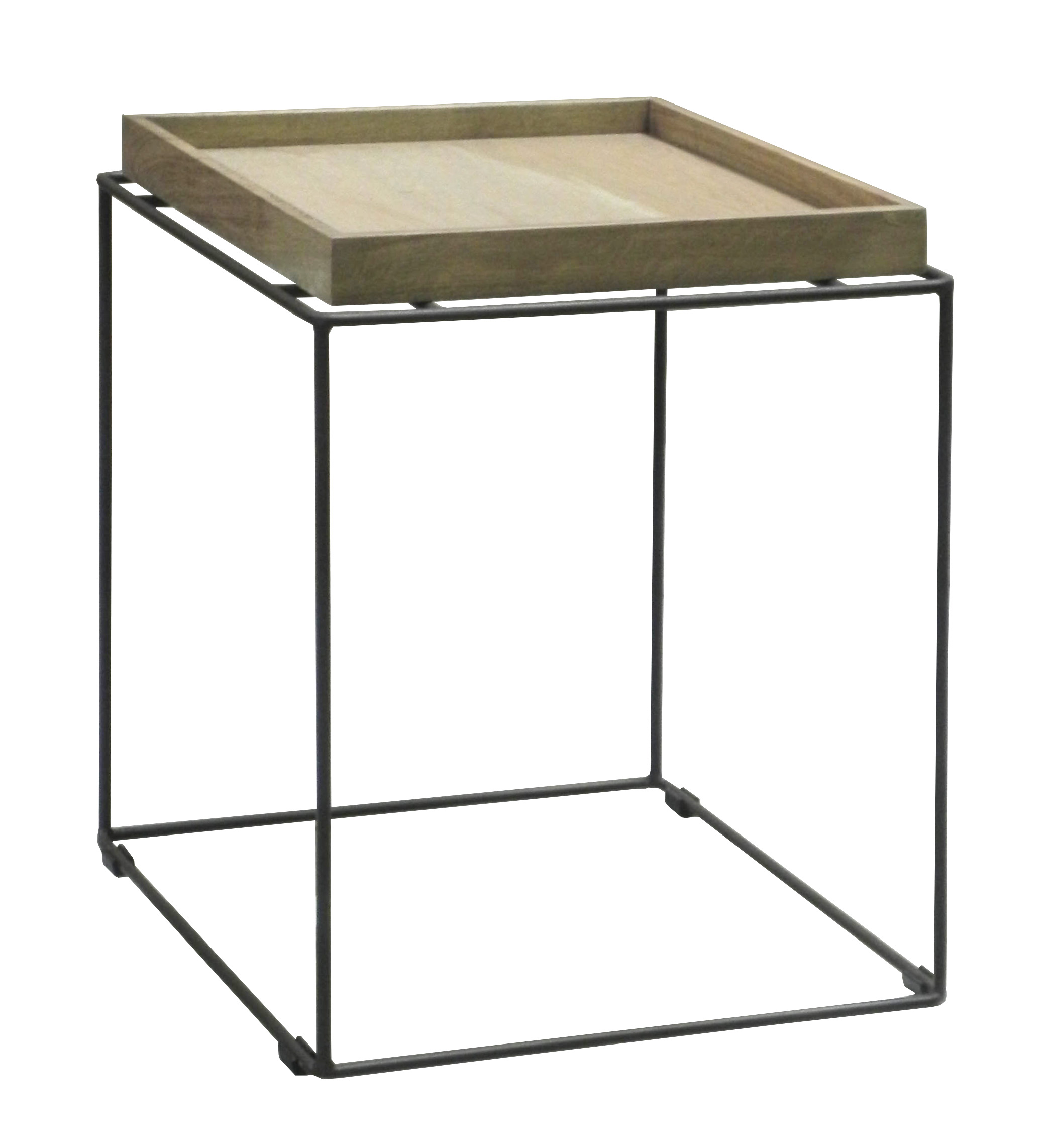 Table D Appoint Bout De Canape Chene Massif Metal Soomaa Ref