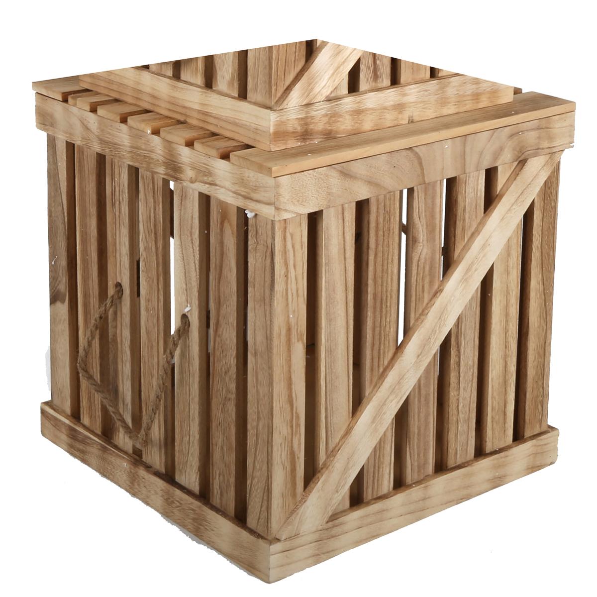 Malle en bois façon cagette Grand modèle