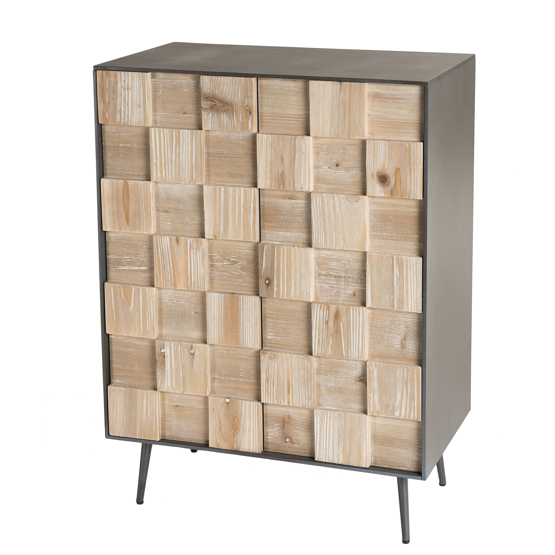 Meuble En Sapin Brut petit meuble de rangement bois de sapin damier carpates