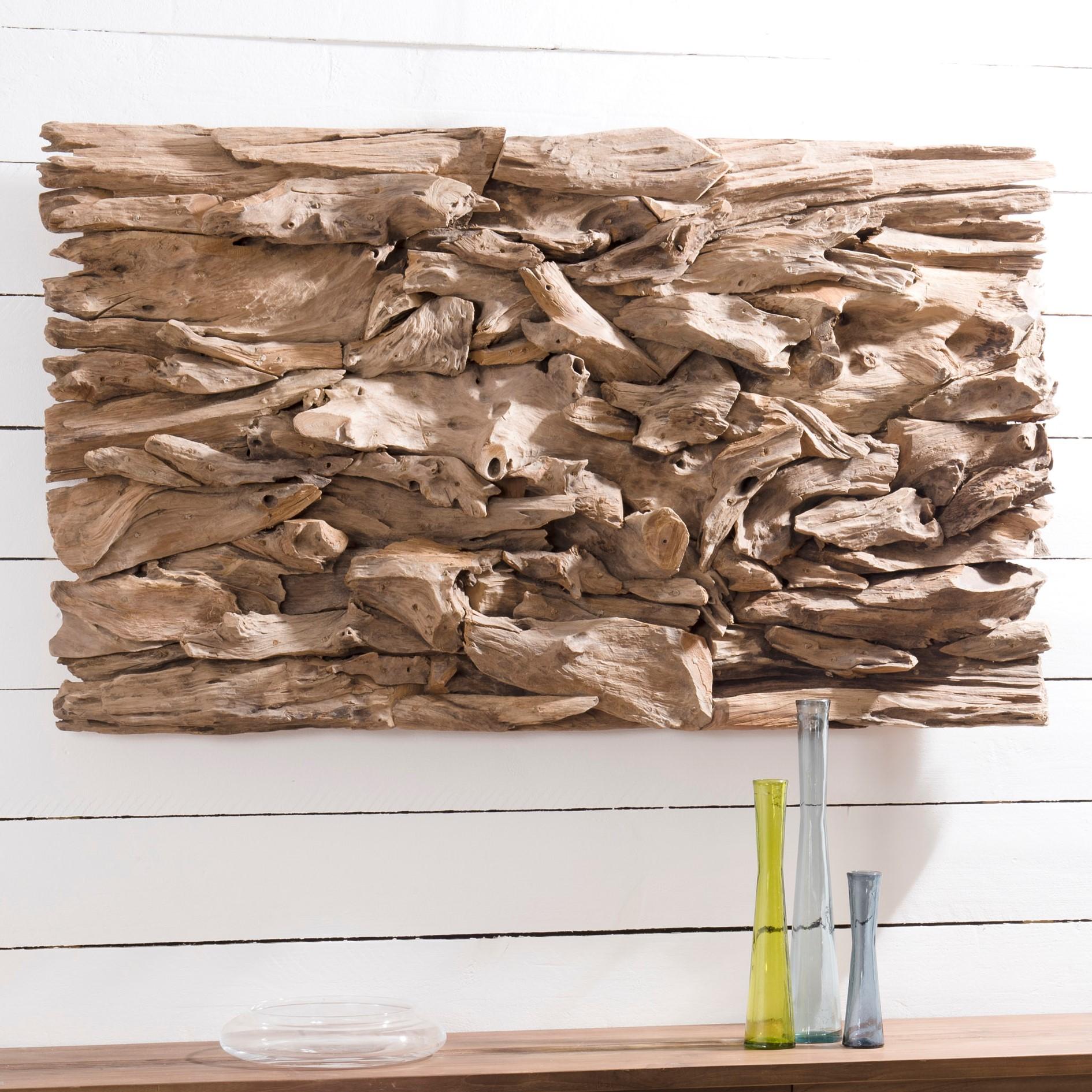 Decor mural bois flotté