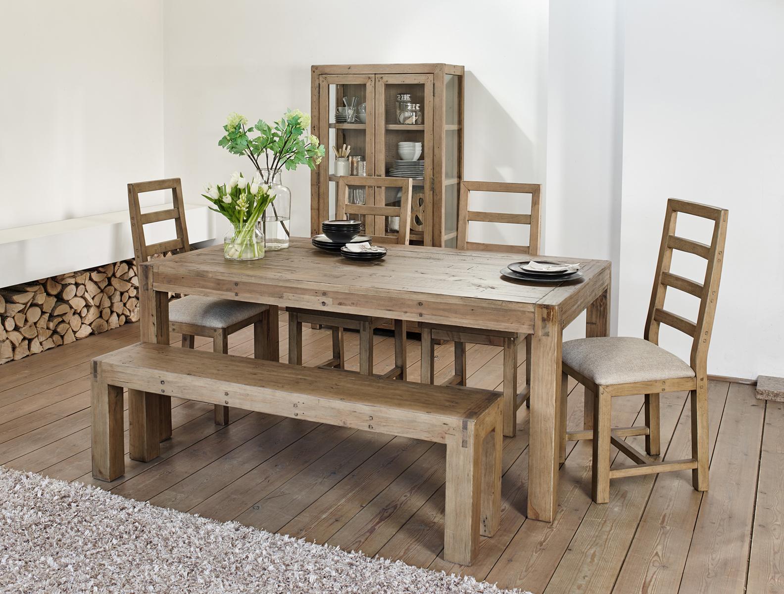 Table à manger bois recyclé 150 VANCOUVER