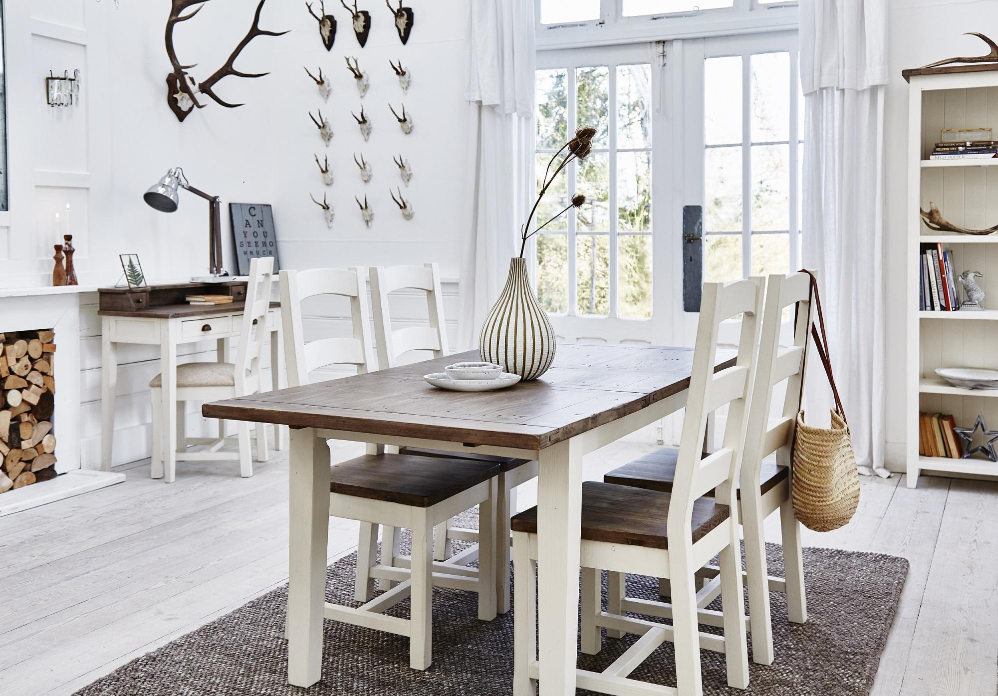 Table à manger ronde blanche D120 cm BRISTOL