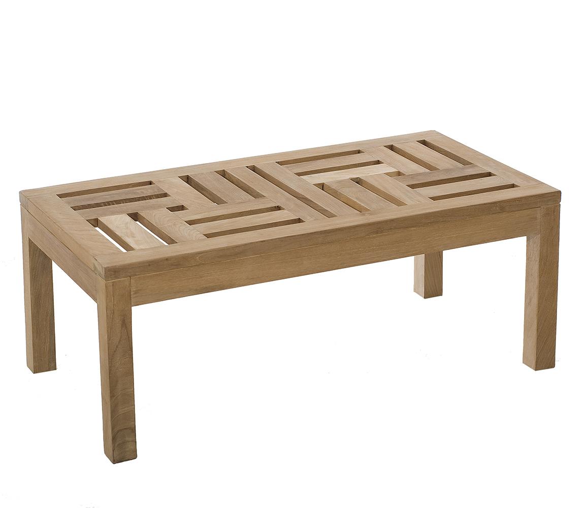 la meilleure attitude db9f5 06f73 Table basse de jardin en Teck brut massif 100cm SUMMER