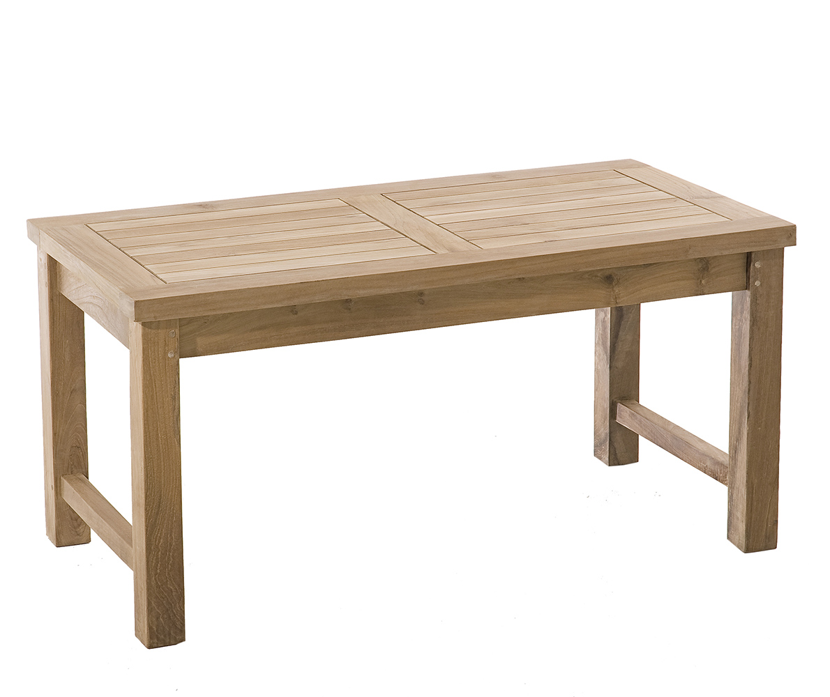 Table basse de jardin en Teck brut massif 90cm SUMMER ...