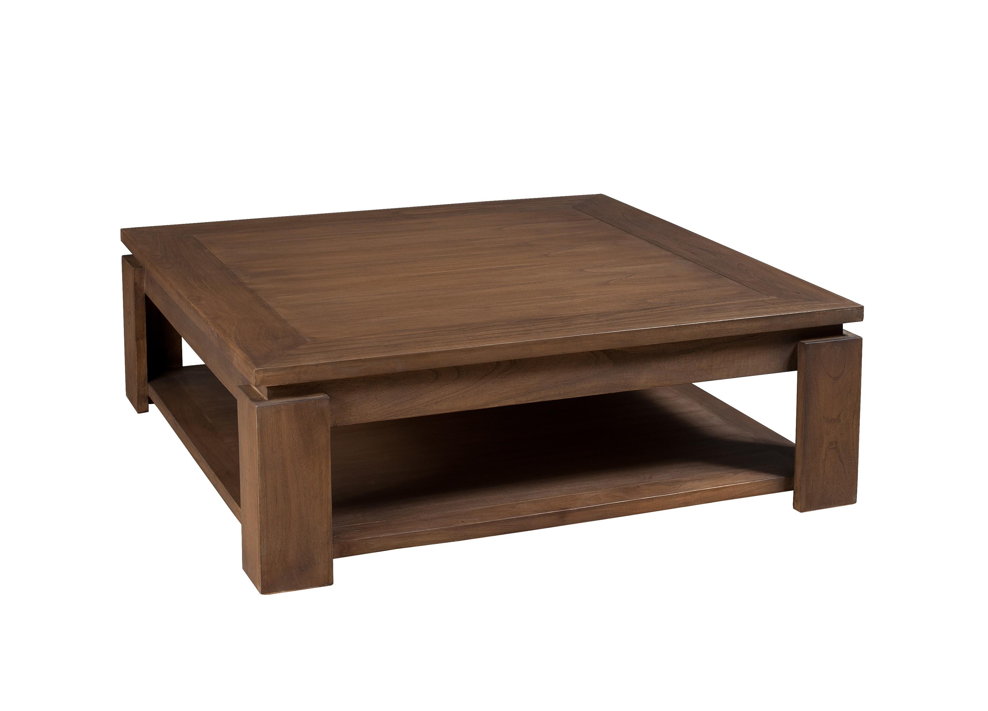 Table De Salon Carree.Table Basse Carree Bois Exotique Louna
