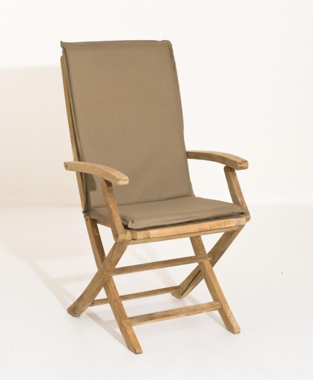 Coussin de fauteuil de jardin imperméable Bronze 101x3x48 ...