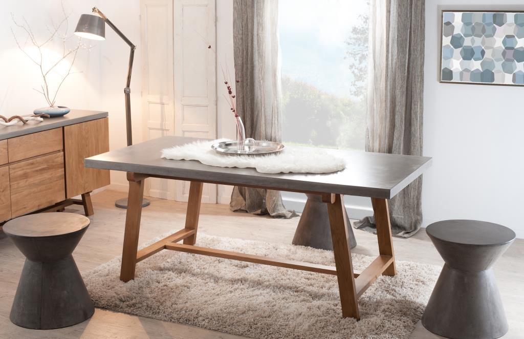 Béton Ferrer À Manger Chêne Rectangle 180x90 Table Et kn0Ow8P
