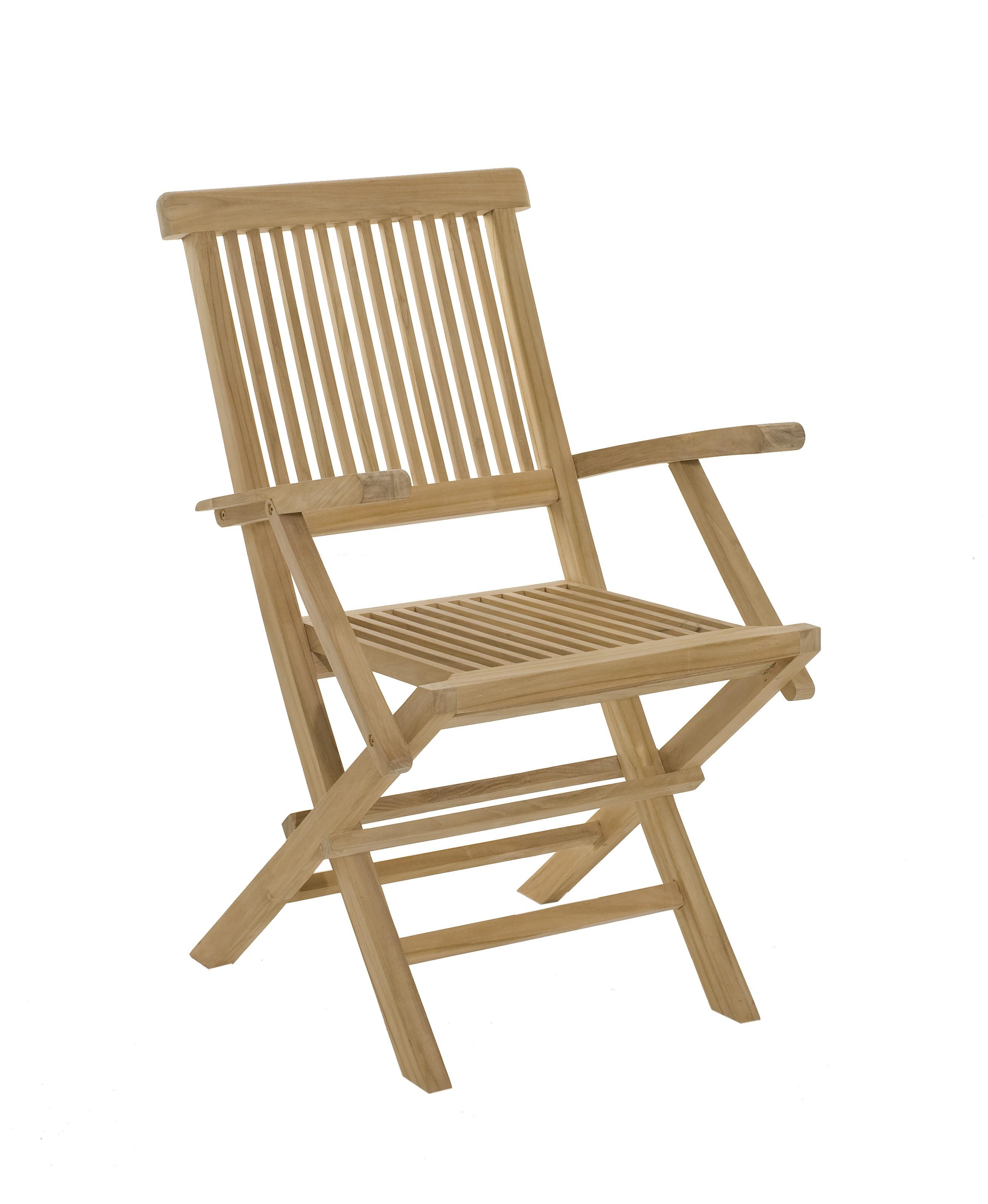 en de Lot 2 de 90 pliant Teck jardin cm fauteuils Java SUMMER tsrxhQdCB