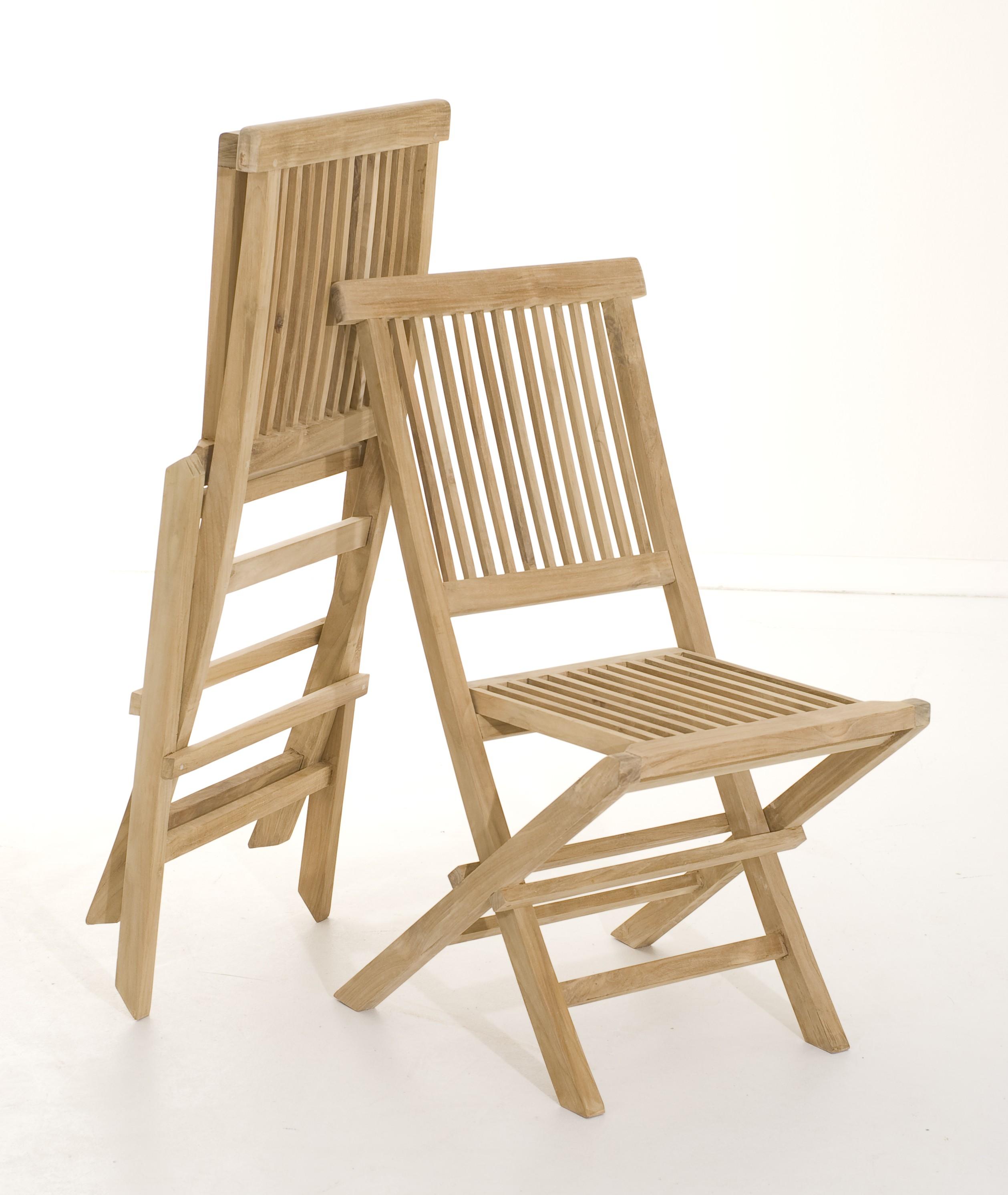Salon de jardin en teck Table ovale 120/180 cm et 6 chaises ...
