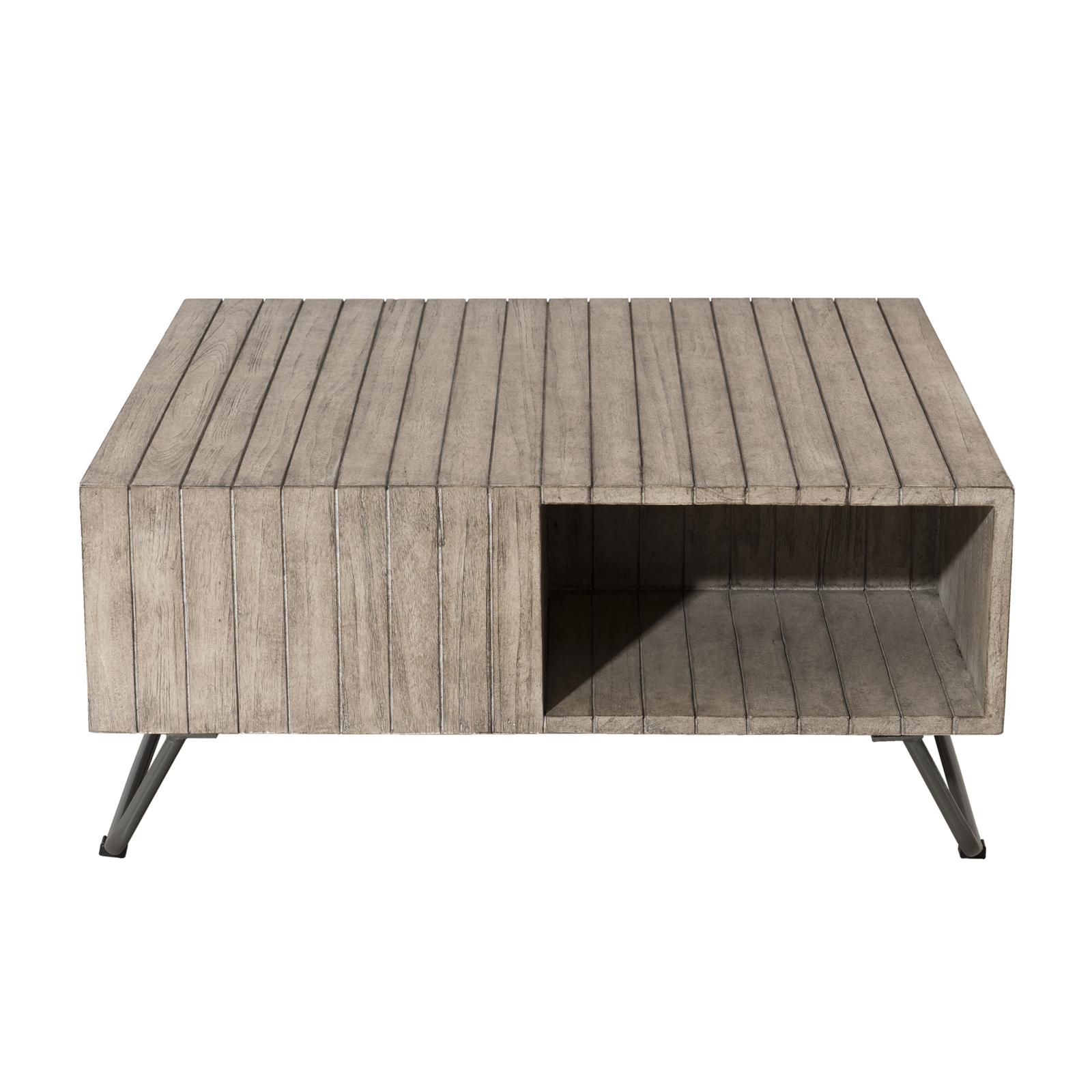Table basse Jardin Teck carrée 90x90cm DETROIT ref. 30020819
