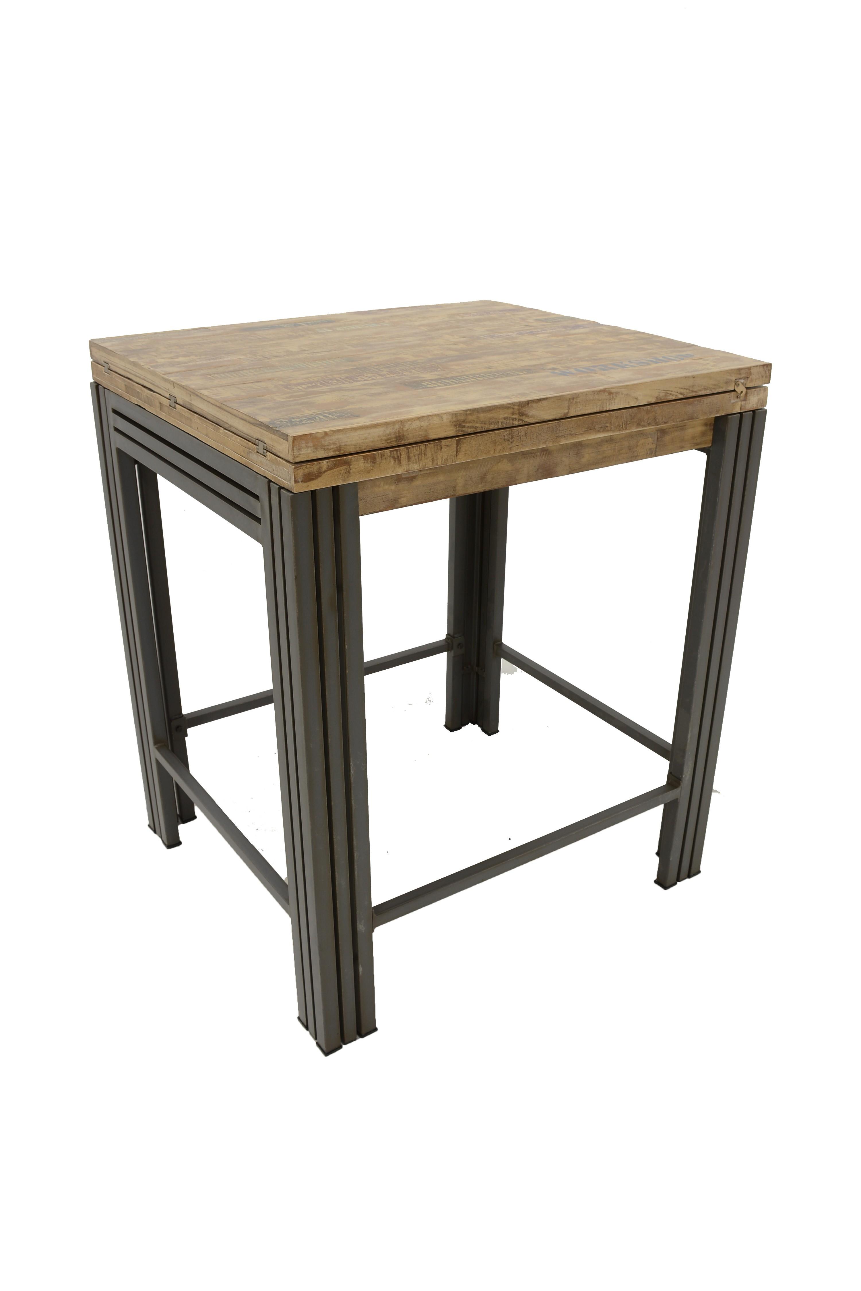 Table bar / Mange debout rectangle extensible hévéa recyclé ...