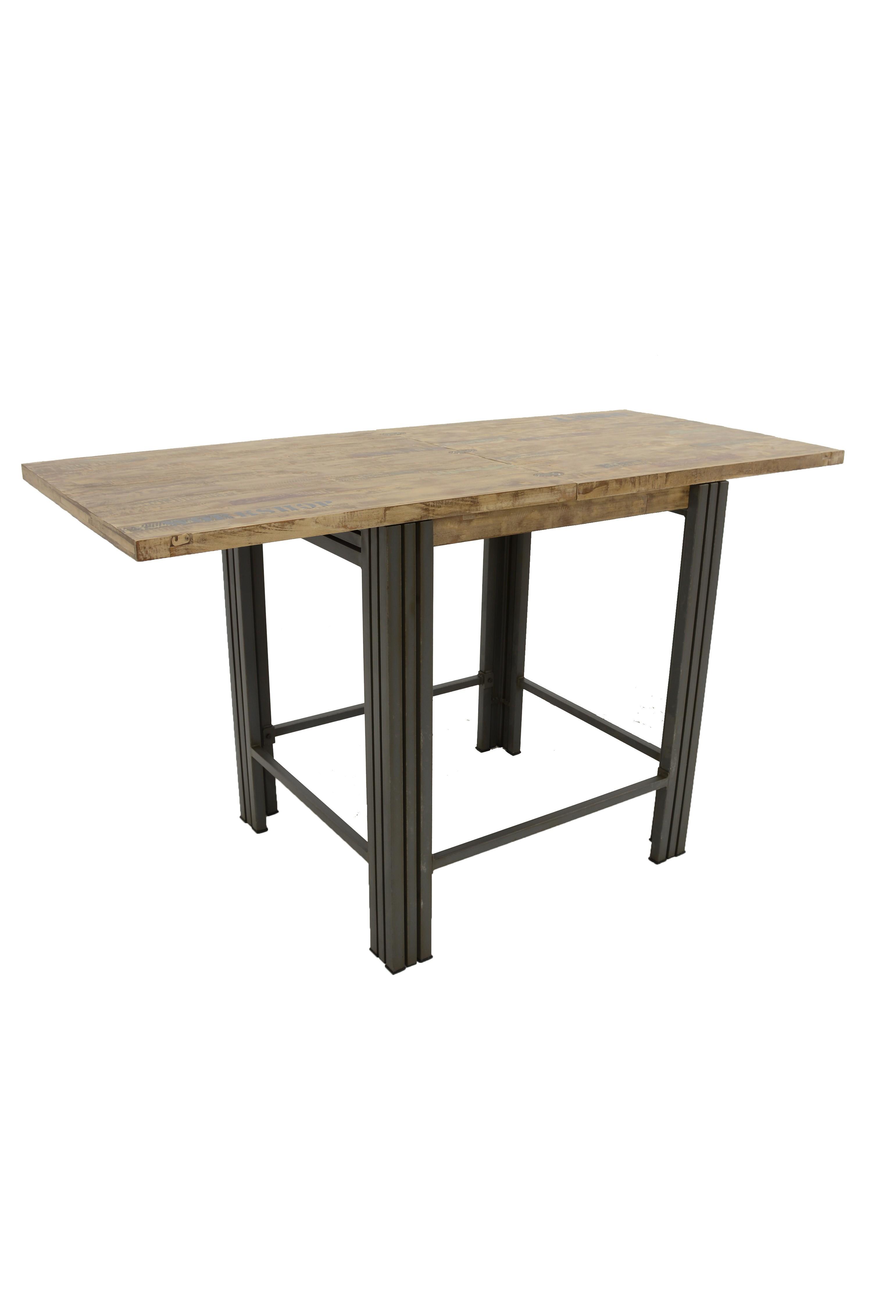 Bar Extensible: Table Bar / Mange Debout Rectangle Extensible Hévéa