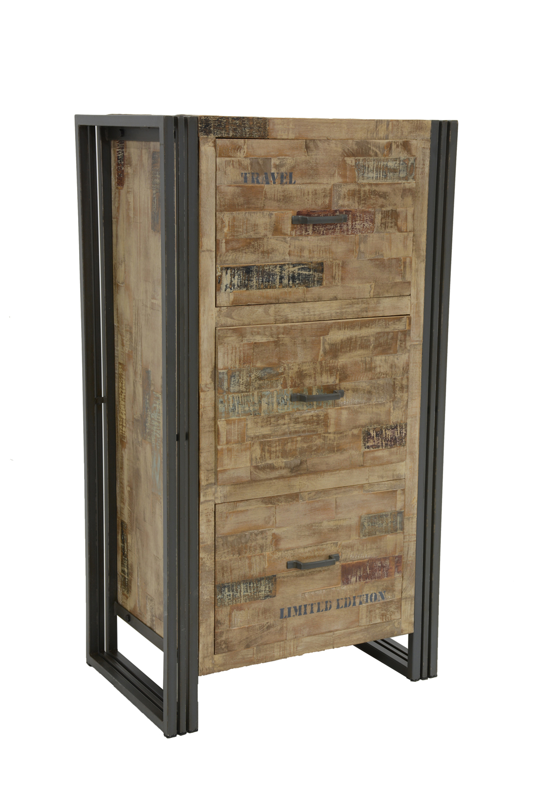 commode chiffonnier h v a recycl blanchi et m tal. Black Bedroom Furniture Sets. Home Design Ideas
