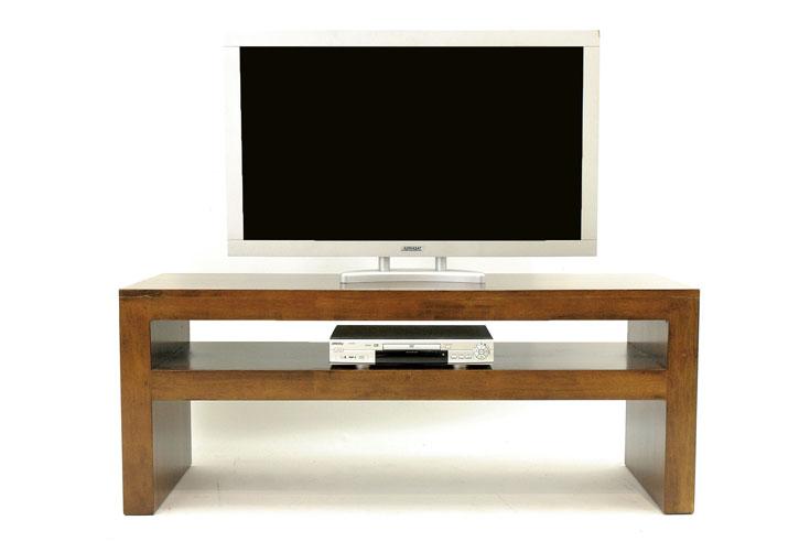 Basse Plateaux Olga Meuble 150x50x60cm Double Tv Hévéa Console HEDeIbYW29