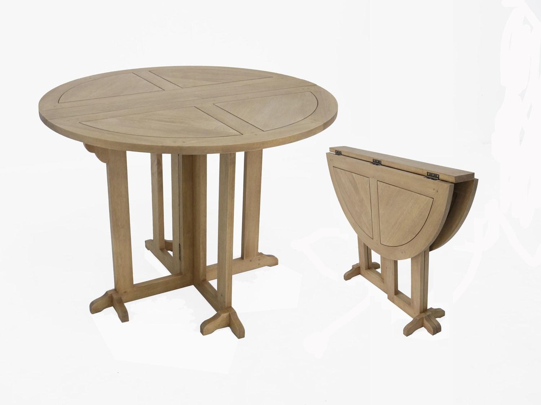 Table Ronde Pliable En Demi Lune.Table A Manger Ronde Pliante O100 Tradition