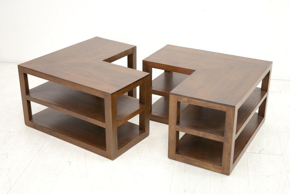 Table Basse Helena Hévéa 2 Parties 105x70cm K1JcTlF3u5