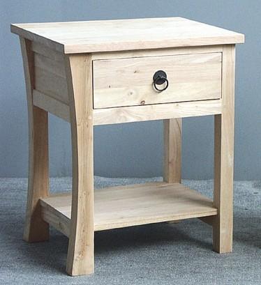 table de chevet bois massif style colonial mod le 2 maori. Black Bedroom Furniture Sets. Home Design Ideas