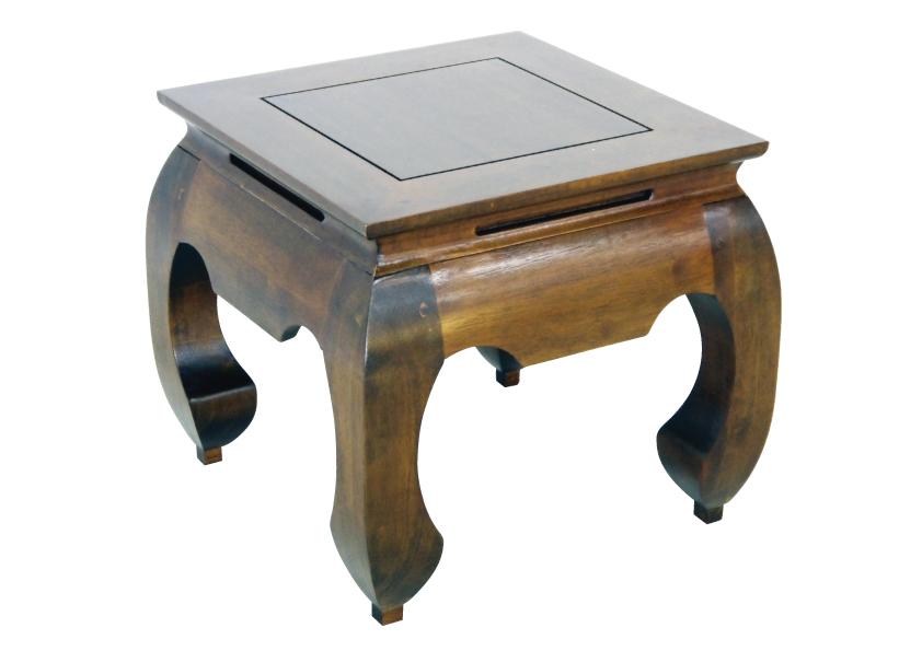 Hévéa Maori Basse Opium 42x42x40cm Table Carrée 76byfg