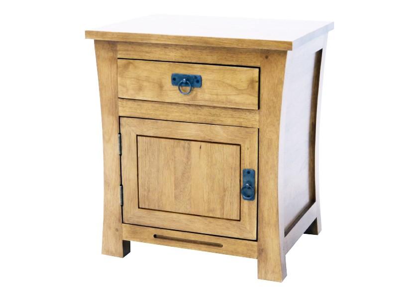 gauche chevet MAORI de tiroir Table 50x42x60cm hévéa 1 WIEDH92