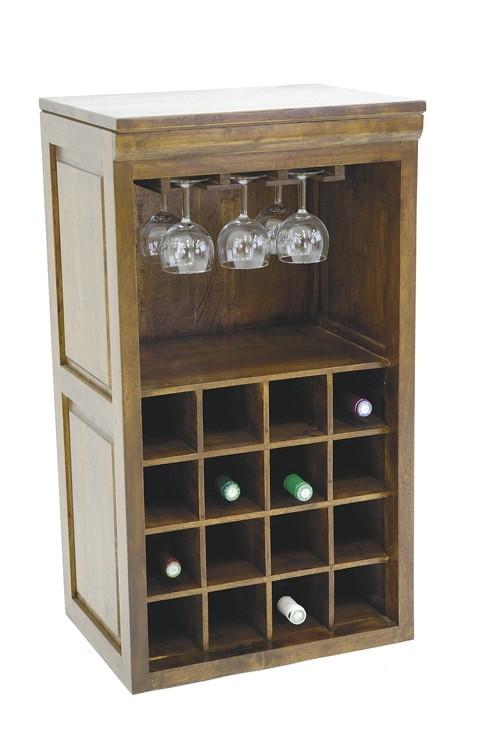 Meuble range bouteilles et verres h v a 49x38x88cm Meuble range bouteille