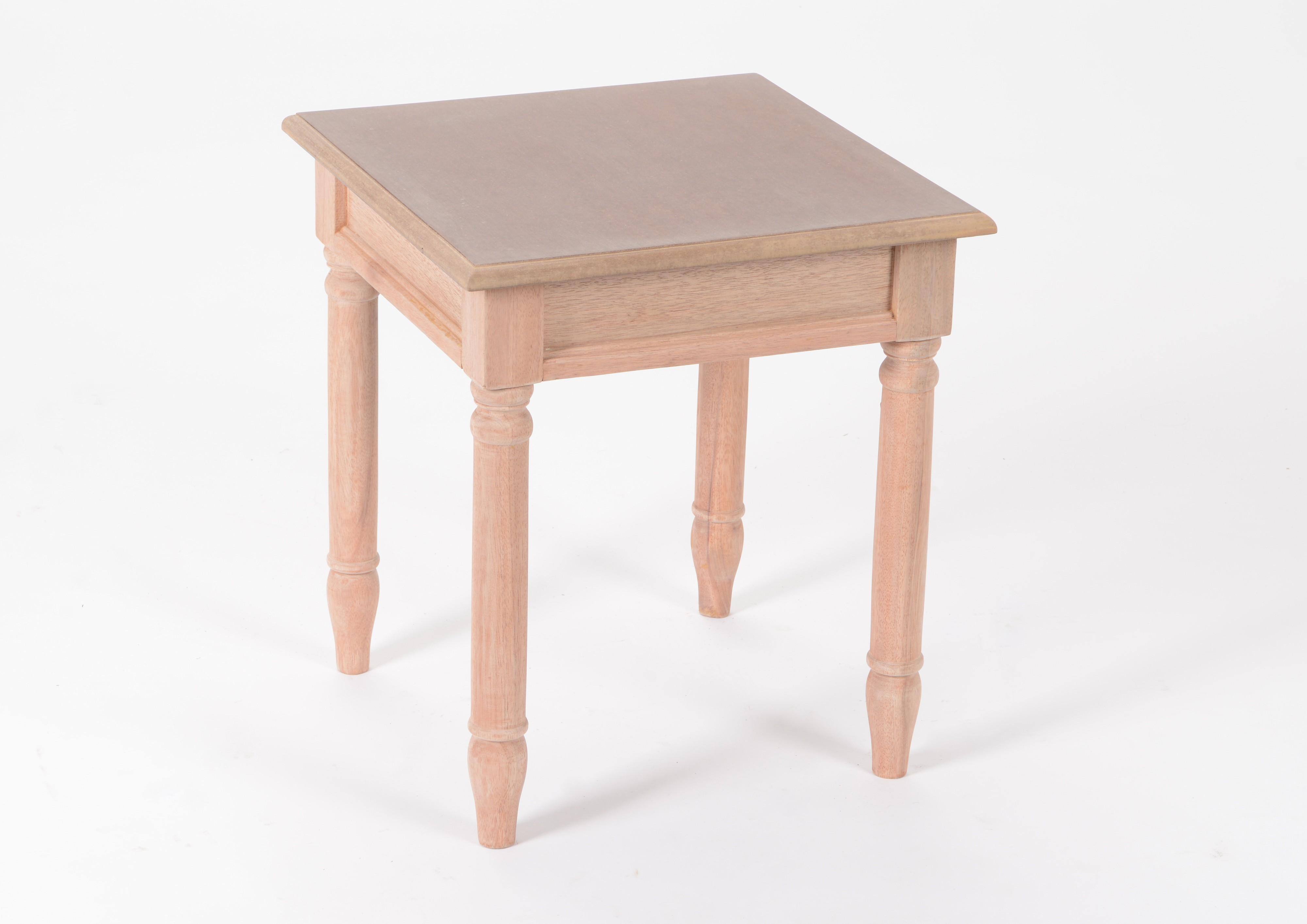 Bout De Canape Table D Appoint Chic En Bois Pret A Peindre Brice L40 X Larg40 X H45cm Amadeus
