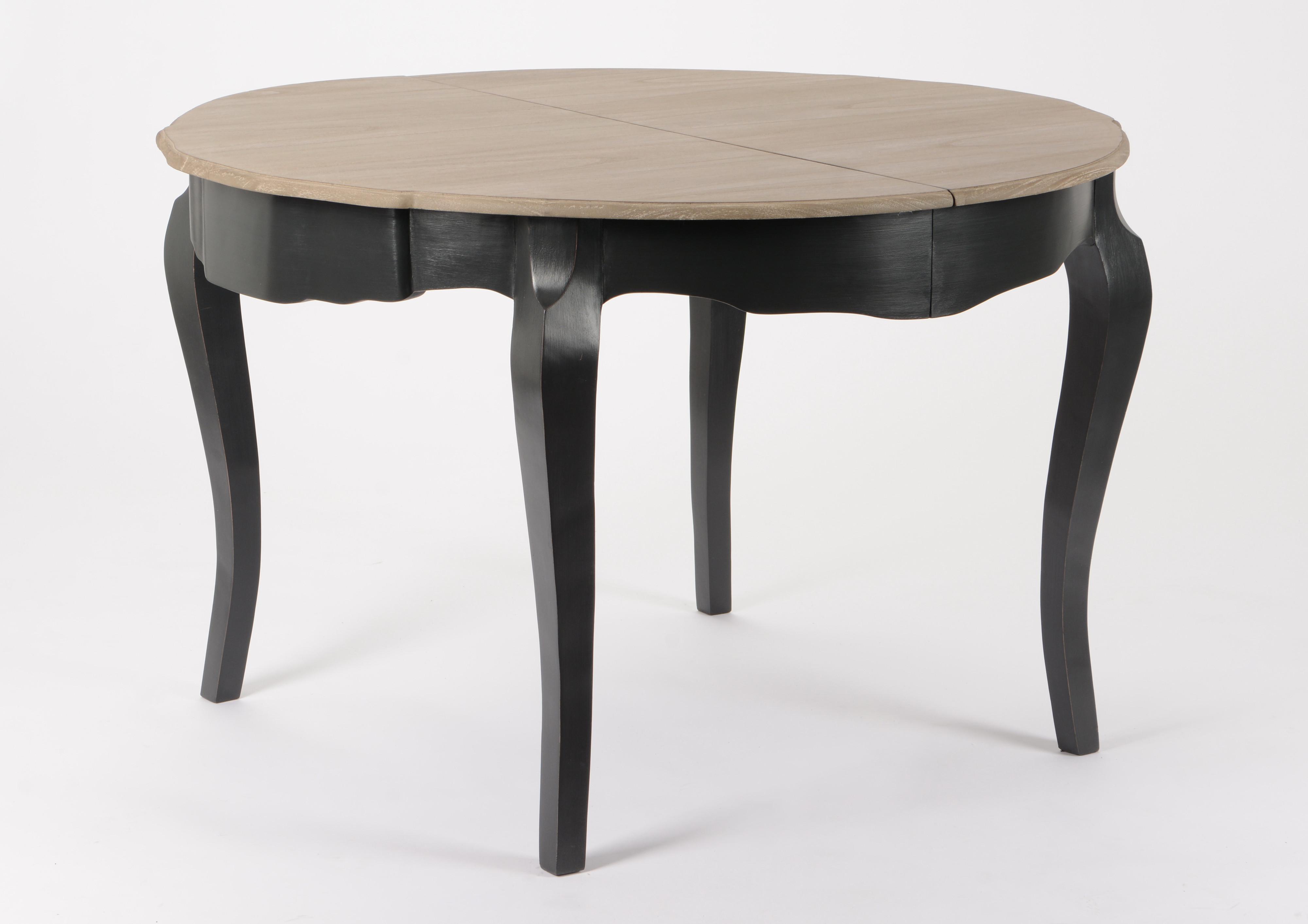 Table de repas ronde Baroque CELESTINE ARDOISE plateau bois naturel ...