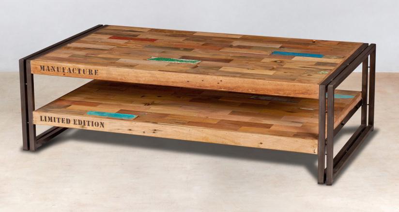 plateau de table basse en bois