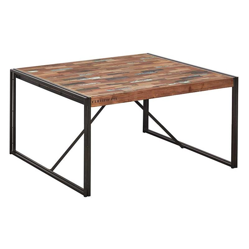 industrielle CARAVELLE manger Table à 140 carrée Yb76gvfy