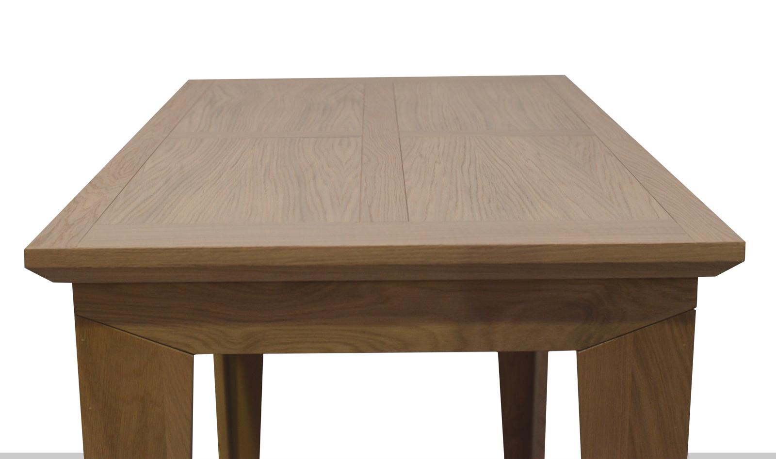 Table Debout Amande Pieds Chic Finition Naturelle En Mange Chêne 8Nnm0w
