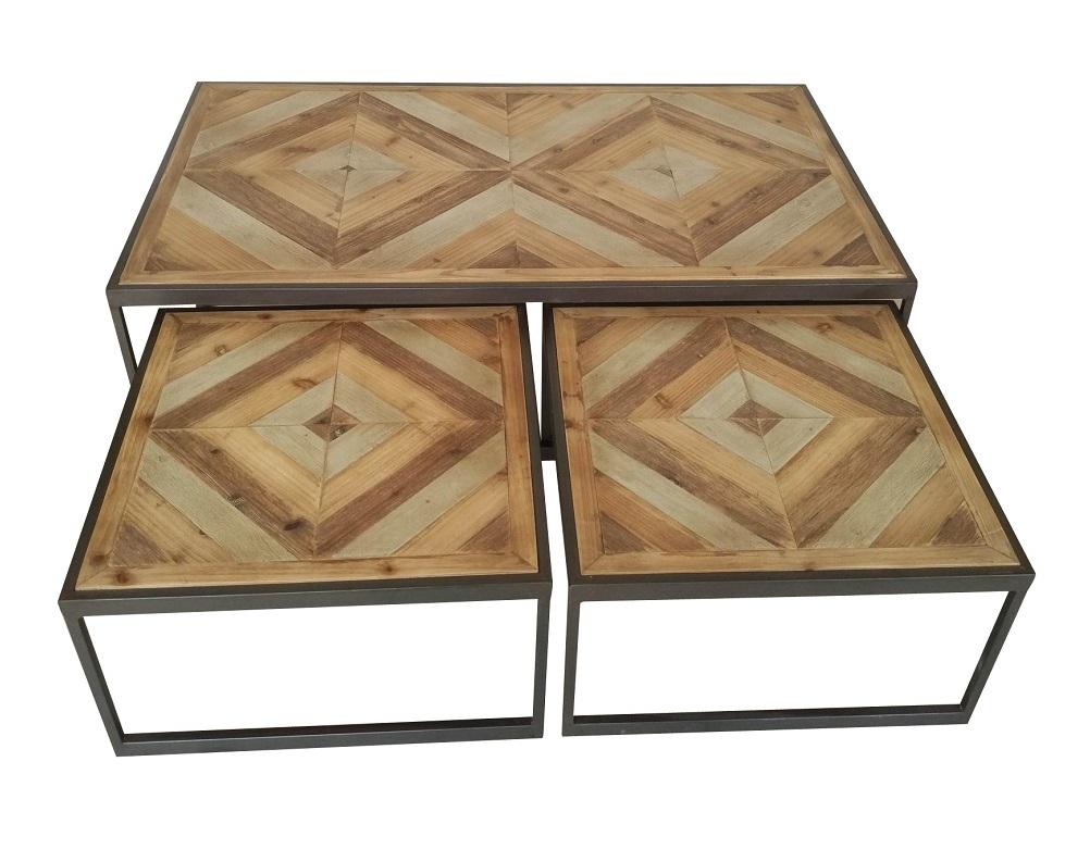 Table Gigogne Bois Metal Seville Lot De 3 Tables Tables