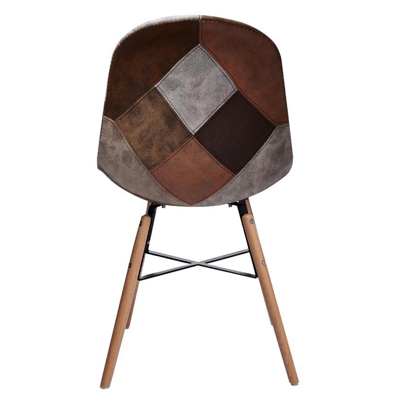marron patchwork Chaise CANADA et scandinave gris R45Aj3Lq