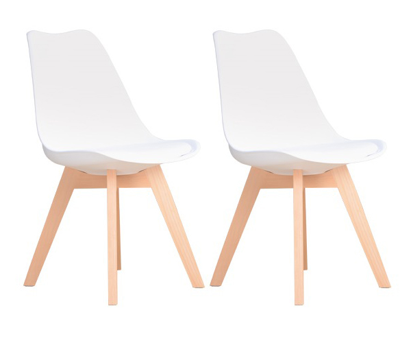 Tony De Chaise 2 Blanche Scandinave 2lot POkXuiTZ
